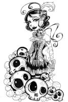 Skulls and pearls by Morcielaga