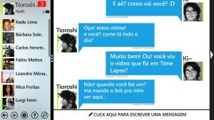 Chat Metro UI concepto by Tioroshi