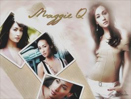 Maggie Q Wall by Kalementina