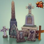 Low Poly Graves by Rorozilla