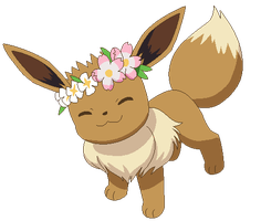 Pokemon base-Petition to give eevees flower crowns by Tech-Kitten