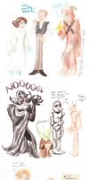 Star wars characters in my style-dump by SnappySnape