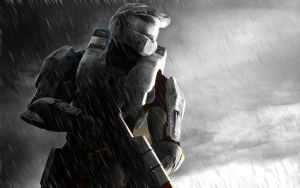 Master Chief in the Snow by crazyfreakypunk