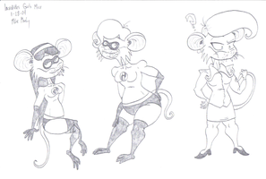 Incredibles Girls Mice by CatsTuxedo