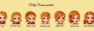 Lily Luna Potter year 1-7 by sophiafreak7797