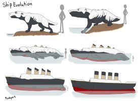 Ship Evolution by pookyhorse