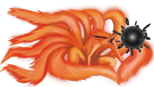 Kurama Kyuubi ninetailed fox by Miyavis
