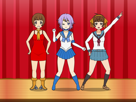 Hypno Cosplayers:Akane, Mizore, and Mako by HypnolordX