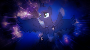 Luna in Space by SandwichDelta
