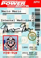 Dr. Mario ID Badge by markwelser