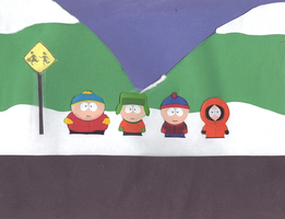 South Park Bus Stop by ocean0413