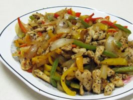 Chicken w Peppers and Onions by kristollini