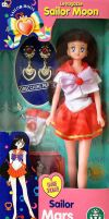 Sailor Mars Italian Doll with Clip on Earrings by aleena