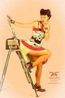 Vintage styled pinup by Graphirus