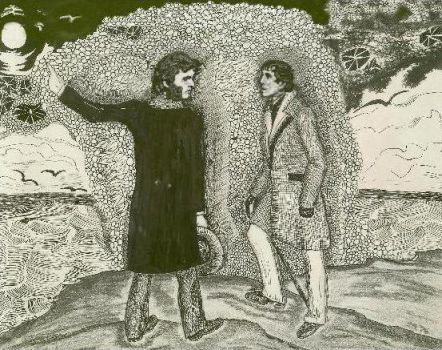 Barnabas and Quentin, Widows Hill, 1897. by ShadeOPale