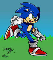 Happy 19th Birthday Sonic by ClassicTeam