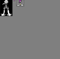Undertale-Cloe-(OC)-Sprite sheet (WIP) by Giorgiathefox
