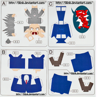 Old Phoenix Wright Papercraft by FJLink