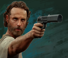 with murder in his eyes... Rick Grimes by WeaponMassCreation