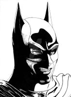 Batman black and White by smashortrash