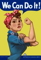 Rosie the Riveteer Pin-Up by scotlanddbarnes