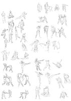 Studies day 1: Gesture Drawings by Crumpety