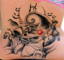 Nightmare Before Christmas Lower Back Healed by Sirius-Tattoo