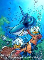 Donald Duck with Scrooge by CarlosMota