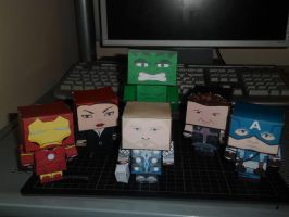 The Avengers - Papercraft by 8991adriann1998