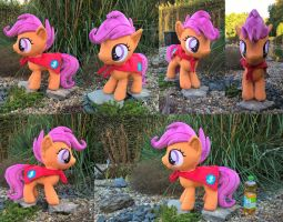 Scootaloo Minky Plush finished with CMC cape by JusticeOfElements