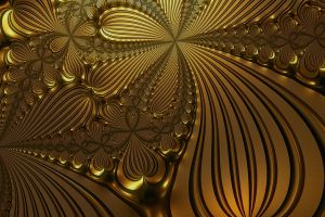Golden Flowers embossing by DiZa-74