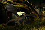 Dragon in the forest by Fairling
