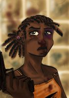 Cornrows lady COLOURED by tarunbanned