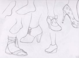 Let's Draw... Feet! Sketch Batch 2 by ashesto