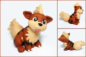 Silly Growlithe Sculpture