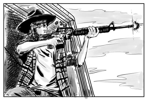 Carl - Walking Dead Comic Panel by SimonArtGuyBreeze