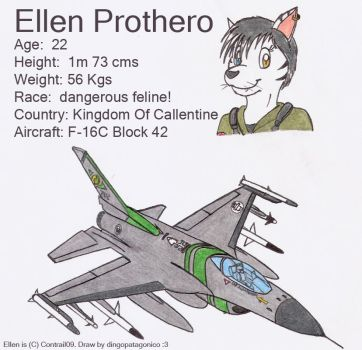 Ellen and her F-16C X3 by DingoPatagonico