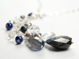 'Milky Way' Iolite, Sapphire and Lapis Necklace by FLEURDELIER