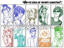 Favorite characters by SUCHanARTIST13