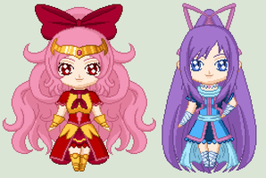 The PreCure Color Me Challenge by Oceanfairydust