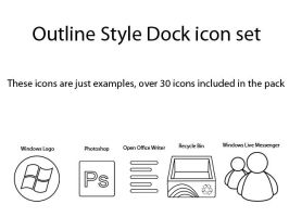 Outline Style Dock icons by Inspirement