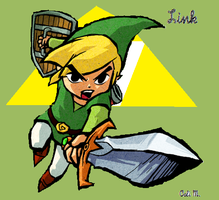 Toon Link(My first :D) by slycooperrules123
