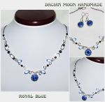 Royal Blue jewelry set by NessaSilverwolf