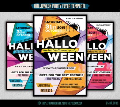 Halloween Party Flyer Template #5 by olgameola