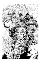 Ghost Rider inks by caananwhite