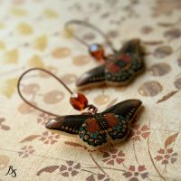 Brown_blue butterflies by BeautySpotCrafts