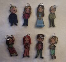 Kawaii Buffy charm set by Lovelyruthie