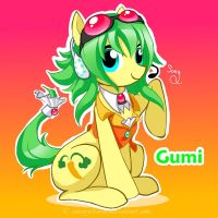 Vocaloid Pony: Gumi by canarycharm