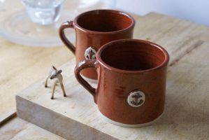 handmade nautical mugs by scarlet1800