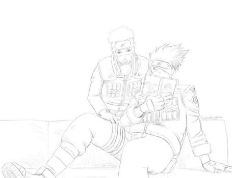 Whatcha reading? - sketch by sadrithmora